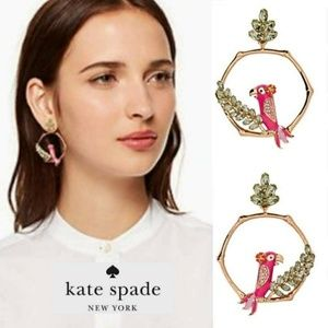 New! Kate Spade Parrot Hoop Earrings!
